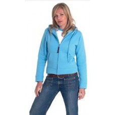 UC505 Uneek Ladies Full Zip Hooded Sweatshirt