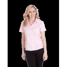 UC712 Ladies Poplin Half Sleeve Shirt