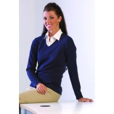 H721 Henbury Ladies Lightweight V-Neck Jumper