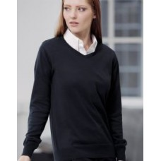 KK353 Ladies Arundel V-neck Long Sleeved Sweater