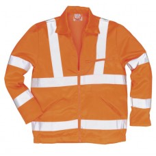 RT40 Hi-Vis Poly-Cotton Jacket, GO/RT