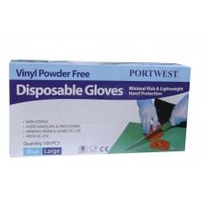 A905 Powder Free Vinyl Disposable Glove (Box of 100)