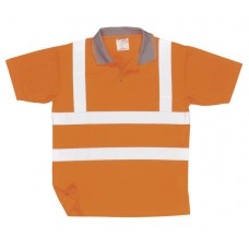 RT22 Hi-Vis Short Sleeved Polo Shirt GO/RT