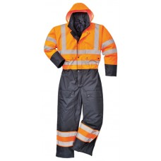 S485 Portwest Hi Vis Contrast Coverall - Lined