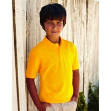 SS25B Fruit of the Loom Kids 65/35 Polo